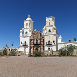 Mission San Xavier Del Bac by Eric Hansen - Buildings & Architecture Places of Worship ( mission san xavier del bac, church, white dove of the desert, mission, arizona )