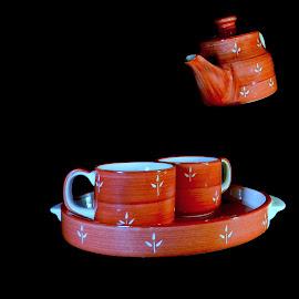 Tea set by Sayantan Mallick - Artistic Objects Cups, Plates & Utensils ( tea set, sweet, cups & plate, still life, simple )