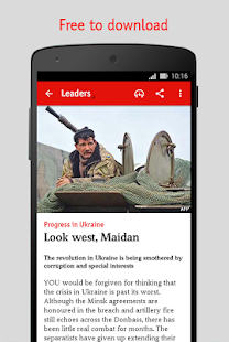 The Economist screenshot for Android