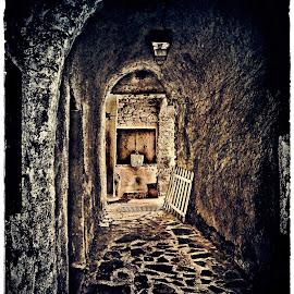 Zuccarello by Alessandro Calzolaro - Digital Art Places ( creepy, zuccarello, village, thevillage, street, rural )