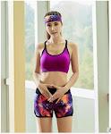 Fashion Design Ladies Running Shorts Nylon And Spandex Women Shorts Yoga Custom