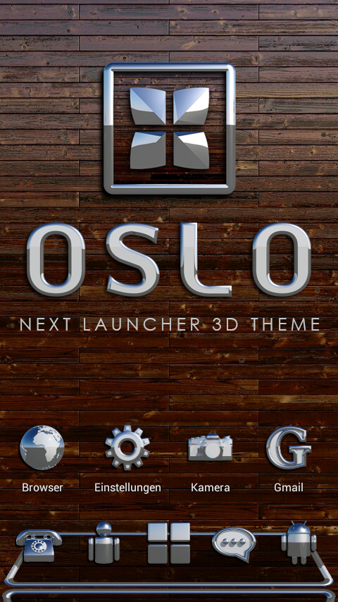 OSLO Next Launcher 3D Theme Screenshot
