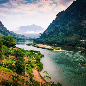 Beautiful Laos by Erika Fisher - Novices Only Landscapes ( mountains and hills, laos, travel, rivers, landscapes, novice only )