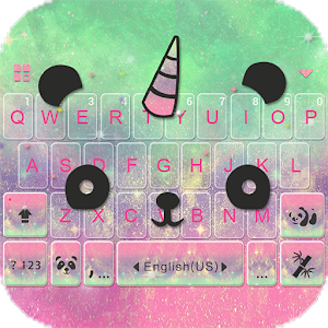 Cuteness Panda Keyboard Theme For PC