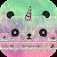 Cuteness Panda Keyboard Theme