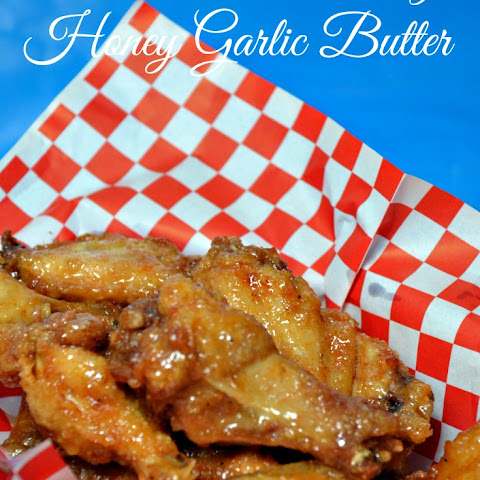 Fried Chicken Wings Honey Garlic Butter