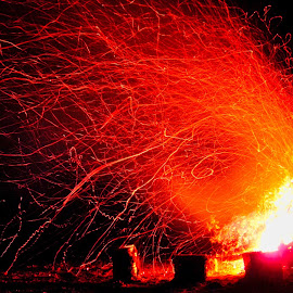 by Bryan Lowcay - Abstract Fire & Fireworks