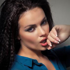 Karina by Alexandru Tache - People Portraits of Women ( sexy, russia, lips, artistic, women, photography, potraits, eyes )
