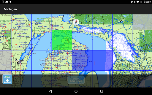 Aqua Map Michigan-Great Lakes - screenshot