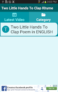 Two Little Hands To Clap Rhyme - screenshot