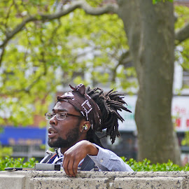 The Thinker by Joatan Berbel - People Portraits of Men ( fashion, colorful, stylish, people, culture, black, man )