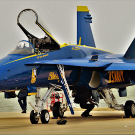 Blue 1 by Benito Flores Jr - Transportation Airplanes ( f-18, texas, hornet, nas )