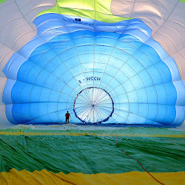 inside hot-air balloon by Luigi Alloni - Sports & Fitness Other Sports ( hot-air balloon colors mongolfiera man silhouette ferrara luigi alloni )