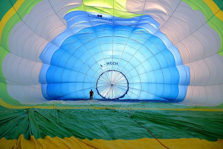 inside hot-air balloon by Luigi Alloni - Sports & Fitness Other Sports ( hot-air balloon colors mongolfiera man silhouette ferrara luigi alloni )