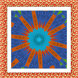 Indian Sun by Joanne West - Abstract Patterns