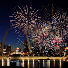 St Louis MO by Margie Troyer - Public Holidays July 4th
