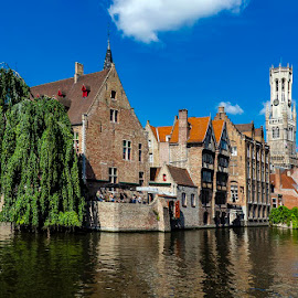 Bruges by Pravine Chester - Buildings & Architecture Homes ( waterways, historic, city, street, cityscape )