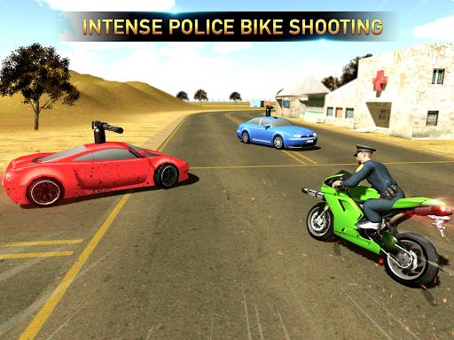 Police Bike Shooting - Gangster Chase Car Shooter screenshot 1