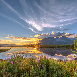 Sunset perfect by Benny Høynes - Landscapes Sunsets & Sunrises ( clouds, water, nature, colors, sunset, norway )