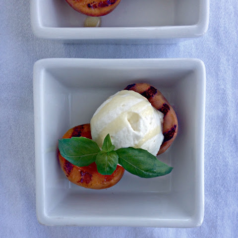 Grilled Apricots with Honey Whipped Cream