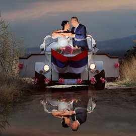 sunset by Dejan Nikolic Fotograf Krusevac - Wedding Bride & Groom ( car, kraljevo, aleksandrovac, vencanje, paracin, sunset, wedding, beograd, svadba, kragujevac, bride, groo )