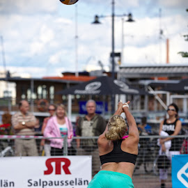 Beach volley by Simo Järvinen - Sports & Fitness Other Sports ( sand, ball, player, female, volleyball, woman, outdoor, sports, summer, game, beach )