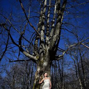 Bride by Foto Zrak - Wedding Bride ( srbija, beautiful, wedding dress, love, sexy, blue sky, d810, flashlight, prewedding, krusevac, wedding, weddings, foto zrak, nikon, bride )