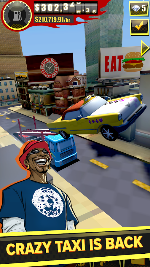 SEGA: Crazy Taxi Gazillionaire Screenshot 1