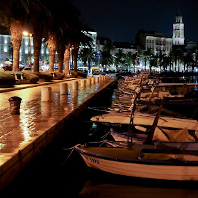 Split, Croatia by Elena Lashneva - City,  Street & Park  Night