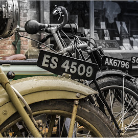 Bikes Through time by Sandy Crowe - Transportation Motorcycles