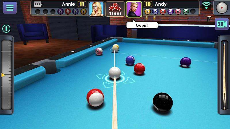 3D Pool Ball Android App Screenshot