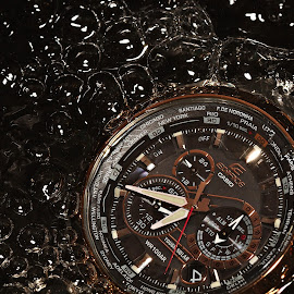 Bubbling Watch by Senthil Damodaran - Products & Objects Technology Objects ( product, bubble, casio, watch, edifice )