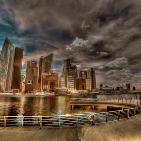 Marina Bay by Jimmy Chiau - City,  Street & Park  Skylines ( pwclandmarks, infrared )