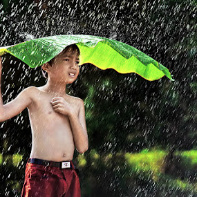Cold Rainy Day by Ipoenk Graphic - Babies & Children Children Candids