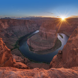 Horseshoe Bend by Arnab Dutta - Landscapes Deserts ( sunset, arizona, landscape )