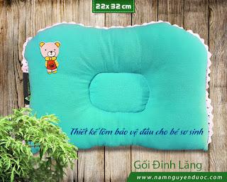 Gối Đinh Lăng Cho Bé Sơ Sinh 1-3 tháng