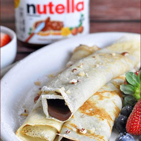 Nutella-Stuffed Pancake Rolls