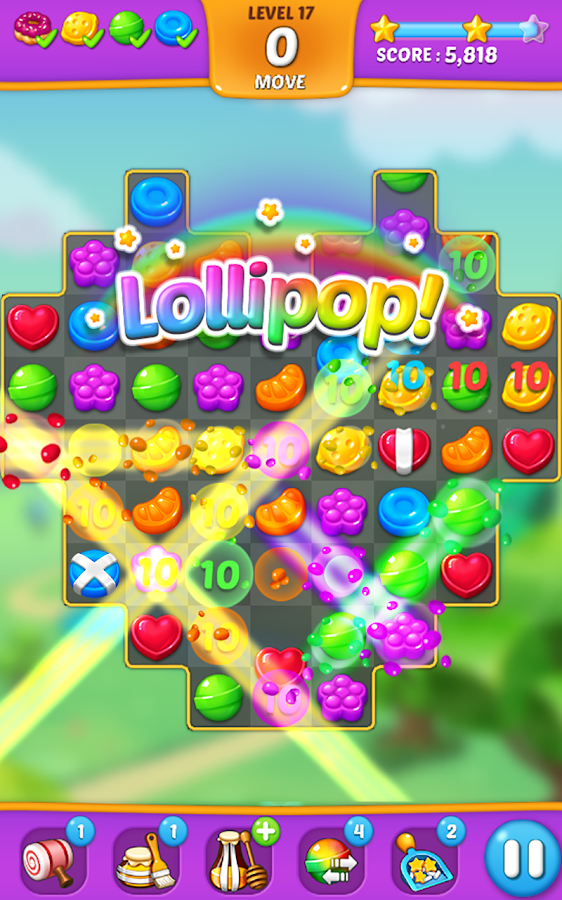 Lollipop: Sweet Taste Match 3 Screenshot 1
