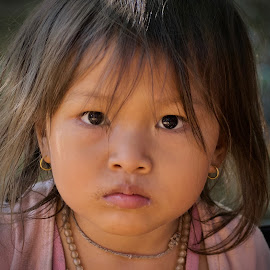 Child in time by Tomescu Marius - Babies & Children Child Portraits ( #eyes, #portrait, #childhood, #child, #girlportrait, #cambodian )