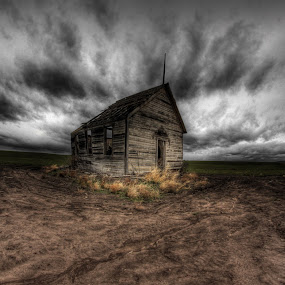 Stormy School House by Eric Demattos - Buildings & Architecture Other Exteriors ( school house, structure, ruin, abandoned )
