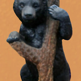 Bear 1 by RMC Rochester - Digital Art Animals ( random, nature, animal, bear, abstract, colors, object )
