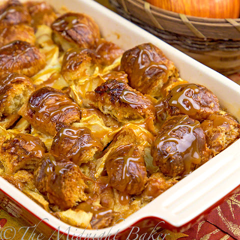 Caramel Apple Croissant Bread Pudding