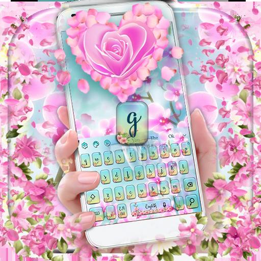 Orchid Petal Flower Keyboard (app)