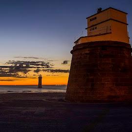 Vehicle, Signpost, Destination by Ian Yates ヅ - Landscapes Sunsets & Sunrises ( lark, brighton, new, sunset, amphibian )