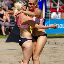 Team Voima by Simo Järvinen - Sports & Fitness Other Sports ( female, outdoor, players, beach volley, sports, summer, team, women )