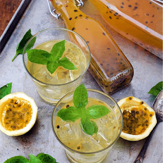 Passion Fruit and Basil Cordial