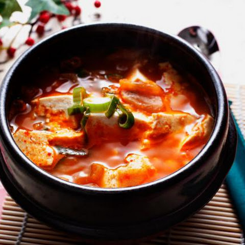 Spicy Korean Soft Tofu Stew (Soondubuchigae)