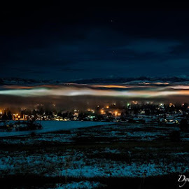 Fog Engulfing the City by Dylan Dybdal - Landscapes Weather ( mountains, summer, cityscape, landscapes, nightscape )