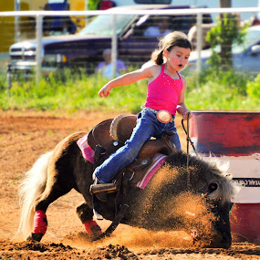 Cowgirl Style by Kristen O'Brian - Animals Horses ( mare, pony, colt, horse, rodeo, horse show, show, filly, barrel racing, girl, woman, stud, pink, barrel, gelding )