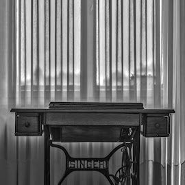 by Kiril Krastev - Artistic Objects Furniture ( sewing, black and white, white )